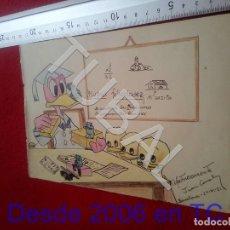 Collezionismo: TUBAL DIBUJO DISNEY ORIGINAL FIRMADO B68. Lote 199660075