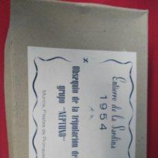 Coleccionismo: ENTIERO DE LA SARDINA OBSEQUIO GRUPO NEPTURNO AÑO 1954. Lote 199719321
