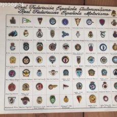 Collectionnisme: INSIGNIAS DE LA REAL FEDERACION ESPAÑOLA DE MOTOCICLISMO Y AUTOMOVILISMO. Lote 199867187
