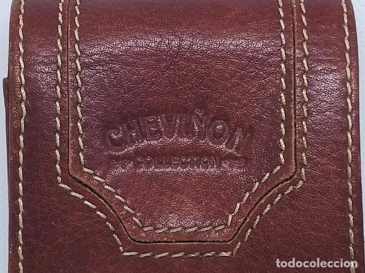 Coleccionismo: Pitillera de cuero CHEVIÑON COLLECTION - Foto 3 - 200061318