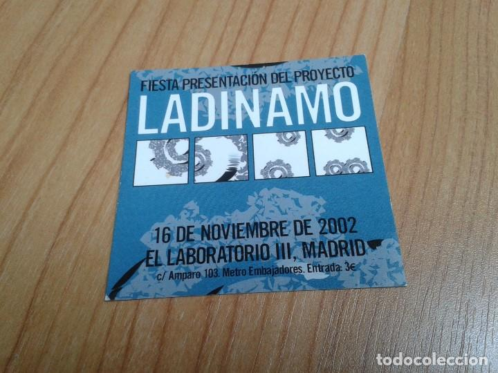 FLYER LADINAMO - FIESTA PRESENTACIÓN - EL LABORATORIO III - LOLO RICO, JAVIER CORCUERA, CARLOS TENA (Coleccionismo - Laminas, Programas y Otros Documentos)