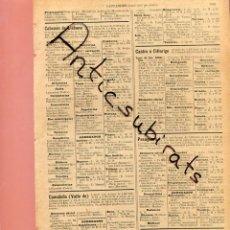 Coleccionismo: AÑO 1905 COMERCIOS EN CABEZON DE LIEBANA VALLE DE CAMALEÑO CASTRO CILLORIGO PESAGUERO TRESVISO. Lote 201829083