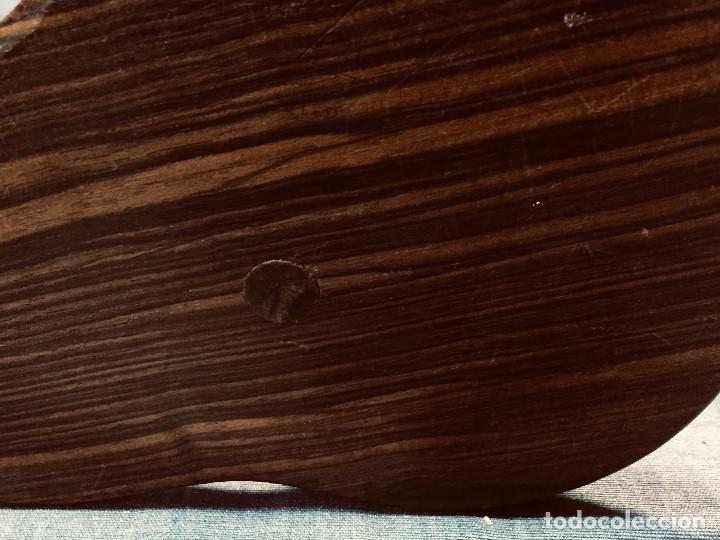 Coleccionismo: antiguo gong de mesa base jacaranda bambu semilla ojos vidrio asta ciervo pajaro 45x28x25cms - Foto 27 - 202579898