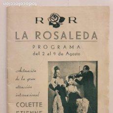 Coleccionismo: LA ROSALEDA - CLUB NOCTURNO - ESPECTÁCULOS - BARCELONA - 12,5 X 16,8 CM.. Lote 203009757