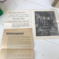 Coleccionismo: DOCUMENTACIÓN DE LA BASÍLICA DE VILAFRANCA DEL PENEDES PARA RECONSTRUIRLA. 1934. VER FOTOGRAFÍAS.. Lote 203321891