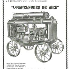 Coleccionismo: AÑO 1933 PUBLICIDAD TALLERES RODON COMPRESORES DE AIRE MAQUINARIA INDUSTRIA MARMOL BCNA. Lote 203413256