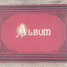 Coleccionismo: ALBUM ANTIGUO DE PRÁCTICA DE DIBUJO, SOMBRAS Y DIFUMINADO. CUADERNO DIBUJO ROJO CON LETRAS DORADAS. Lote 203525042