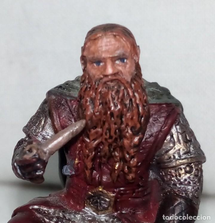 Coleccionismo: Figura de plomo El Señor de los Anillos inédita en España Nº153 Gimli Sin Caja - Foto 2 - 162798654