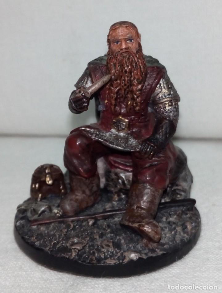 Coleccionismo: Figura de plomo El Señor de los Anillos inédita en España Nº153 Gimli Sin Caja - Foto 3 - 162798654