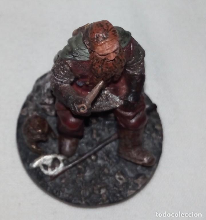 Coleccionismo: Figura de plomo El Señor de los Anillos inédita en España Nº153 Gimli Sin Caja - Foto 7 - 162798654
