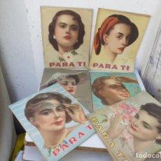 Coleccionismo: 6 REVISTAS DE MODA AÑOS 50. Lote 204348746