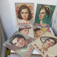 Coleccionismo: 6 REVISTAS DE MODA AÑOS 50. Lote 204348812