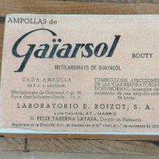 Coleccionismo: CAJA BOTE FARMACO MEDICAMENTO 12. Lote 204436632