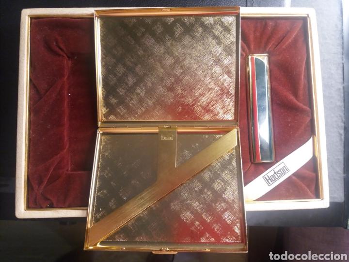 Coleccionismo: HADSON. Pitillera y mechero con caja. Nunca usado - Foto 4 - 204475411