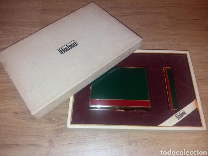 HADSON. PITILLERA Y MECHERO CON CAJA. NUNCA USADO (Coleccionismo - Objetos para Fumar - Otros)