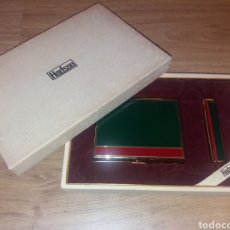 Coleccionismo: HADSON. PITILLERA Y MECHERO CON CAJA. NUNCA USADO. Lote 204475411