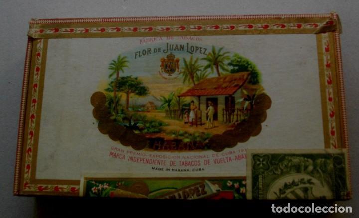 CAJA DE PUROS HABANOS CUBA LA FLOR DE JUAN LOPEZ (( PRE/ EMBARGO )) VACIA/ COLLC (Coleccionismo - Objetos para Fumar - Otros)