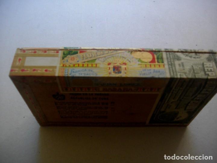 Coleccionismo: CAJA DE PUROS HABANOS CUBA LA FLOR DE JUAN LOPEZ (( PRE/ EMBARGO )) VACIA/ COLLC - Foto 5 - 204548676