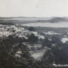 Coleccionismo: SANTA EULALIA IBIZA ANTIGUA LAMINA HUECOGRABADO AÑOS 50. Lote 204612226