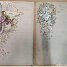 Coleccionismo: 2 CARTAS ESPECIALES CON DIORAMA (DESPLEGABLE 3D), DEL S. XIX-XX. Lote 205018270