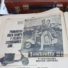 Coleccionismo: ANUNCIO PRENSA LAMBRETTA. Lote 205271441
