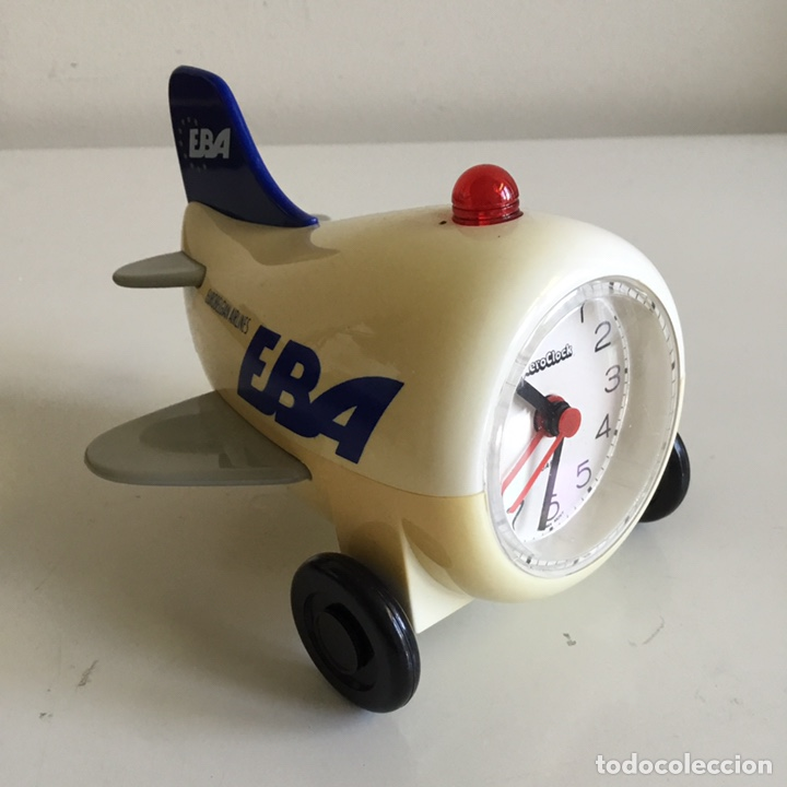 EBA EUROBELGIAN AIRLINES. RELOJ EN FIGURA DE AVIÓN (Coleccionismo - Varios)