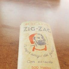 Coleccionismo: BLOC LUJO ZIG-ZAG 500 HOJAS CON ESCUDO. Lote 205524385