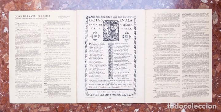 Coleccionismo: A282.- GOIGS DE LES VILES I POBLES DE LA VALL DEL CORB - Foto 2 - 205554051