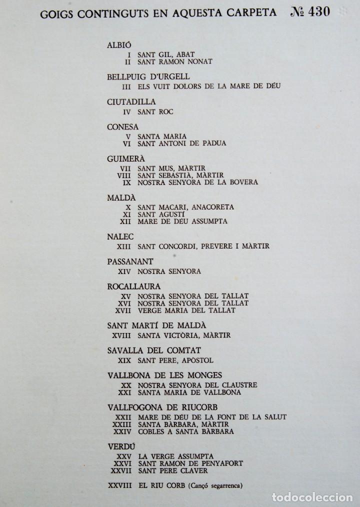 Coleccionismo: A282.- GOIGS DE LES VILES I POBLES DE LA VALL DEL CORB - Foto 3 - 205554051