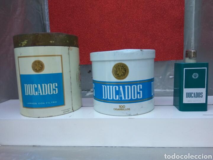 TABACO DUCADOS LATAS Y MECHERO (Coleccionismo - Objetos para Fumar - Otros)