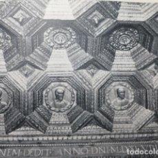 Coleccionismo: UCLES CUENCA MONASTERIO ARTESONADO ANTIGUA LAMINA HUECOGRABADO AÑOS 50. Lote 205644056