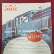 Coleccionismo: AÑOS 50, INSTRUCCIONES TRENE JAYA, CASETA MANIOBRAS CON SILBATO, REVERSO SEÑALES SILBATO, RARO. Lote 205670996