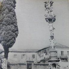 Coleccionismo: HIO PONTEVEDRA EL CRUCERO ANTIGUA LAMINA HUECOGRABADO AÑOS 50. Lote 205748525