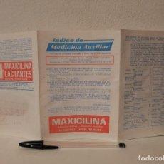 Coleccionismo: ANTIGUO FOLLETO - INDICE DE - MEDICINA - AUXILIAR MAXICILINA - ATS ESPAÑOLES - AÑO 1972 - LACTANTES. Lote 205753590