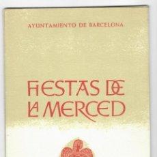 Coleccionismo: PROGRAMA DE FIESTAS DE LA MERCED - BARCELONA 1961. Lote 205770173