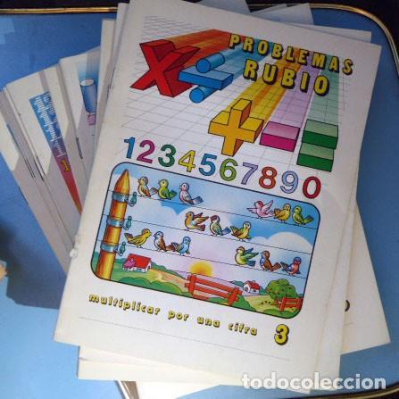 Coleccionismo: 40 Cuadernos Problemas Rubio de EGB, año 1978 - Foto 3 - 205777898