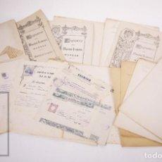Coleccionismo: CONJUNTO DE 11 TÍTULOS DE PROPIEDAD DE PERFUMES, AÑOS 40 - PERFUMERÍA / COSMÉTICA. Lote 205882808