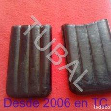 Coleccionismo: TUBAL PITILLERA DE PIEL TABACO PUROS CIGARROS CJ3. Lote 206167801