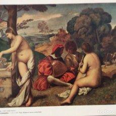 Coleccionismo: GIORGIONE - LE CONCERT CHAMPÊTRE. Lote 206299165