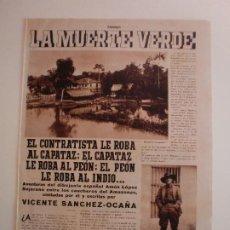 Coleccionismo: AVENTURAS DEL DIBUJANTE AMÓS LÓPEZ BEJARANO ENTRE LOS CAUCHEROS DEL AMAZONAS - 13/6/1936. Lote 206299906