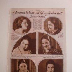 Coleccionismo: CARMEN DIAZ EN LA MELODIA DEL JAZZ BAND - NOTAS DE BAÑOLAS MANLLEU BAZA LA SOLANA - 7/11/1931. Lote 206300013