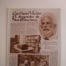 Colecionismo: EL DESPACHO DE DON FRANCISCO GINER DE LOS RIOS FINCA DE SAN FIZ CORUÑA - 22/7/1933. Lote 206300612