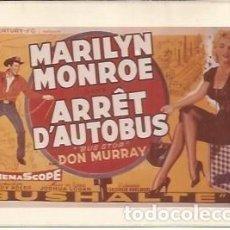 Coleccionismo: POSTAL A1153: MARILYN MONROE EN ARRET D'AUTOBUS. Lote 206369346