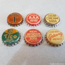 Coleccionismo: LOTE DE 6 TAPÓNES CORONA. Lote 206560462