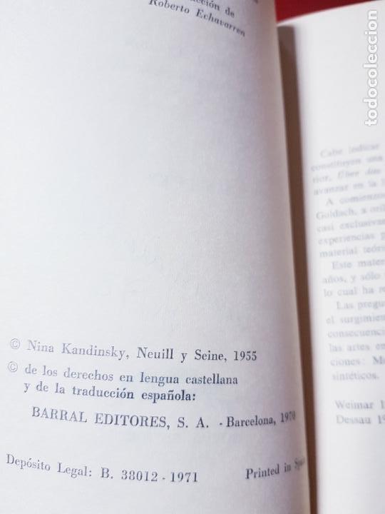 Coleccionismo: libro-kandinsky-punto y línea sobre el plano-barral editores-1971-libros de enlace - Foto 6 - 206837676
