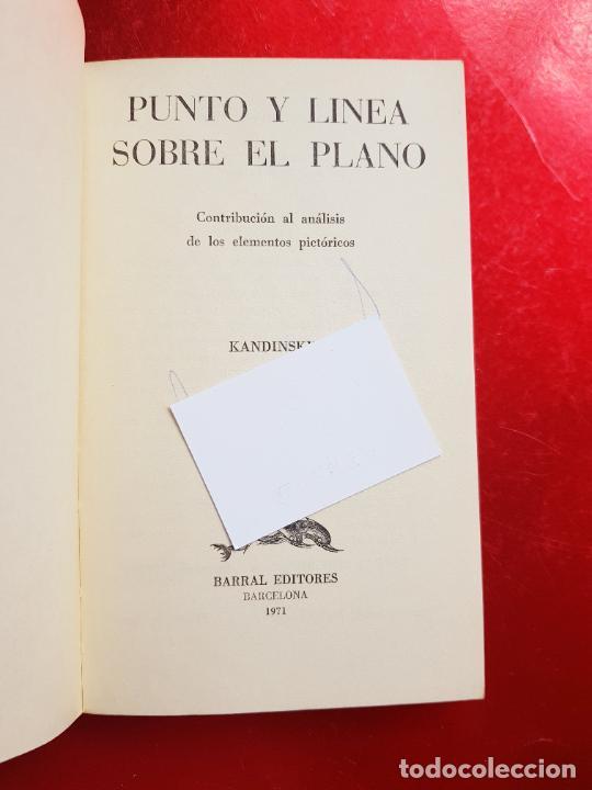 Coleccionismo: libro-kandinsky-punto y línea sobre el plano-barral editores-1971-libros de enlace - Foto 13 - 206837676
