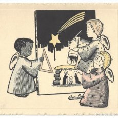 Coleccionismo: FELICITACIÓN NAVIDEÑA- INDUSTRIAS QUÍMICAS DAGAHER. JABONERÍA. ILUSTR. ASENJO. SAN SEBASTIÁN- 1956. Lote 207117127