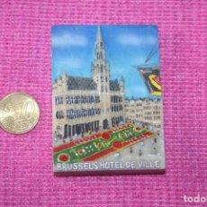 Coleccionismo: BRUSELAS (BÉLGICA) * PIEZA PAISAJE POLICROMADO * IMÁN CIUDAD EUROPEA * TENGO OTROS DIFERENTES. Lote 207120742