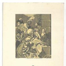 Coleccionismo: FELICITACIÓN NAVIDEÑA- ADORACIÓN DE LOS REYES MAGOS. GRAB. I. OLIVA. CROLLS, S.A.- 1958. Lote 207123163
