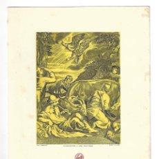 Coleccionismo: FELICITACIÓN NAVIDEÑA- ANUNCIACIÓN A LOS PASTORES. GRAB. I. OLIVA. CROLLS, S.A.- 1957. Lote 207123672